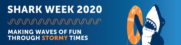 Shark Week 2020 Banner - Making Waves of Fun Through Stormy Times!