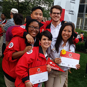 EriKa Monfort (left) participating in City Year in 2015.
