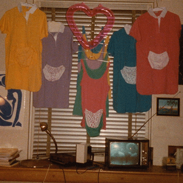 Pajamas for sale, hanging in Jill Zarin's Simmons dorm room.