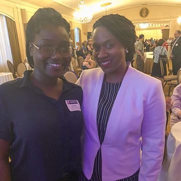 Halley Jeremie with Ayanna Pressley