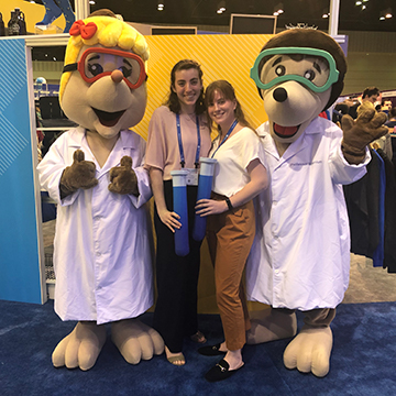 American Chemical Society (ACS) 2019 Spring Meeting, Orlando, FL. Julia Hart (right) is pictured with room- and lab-mate, Emily Buttafuoco.