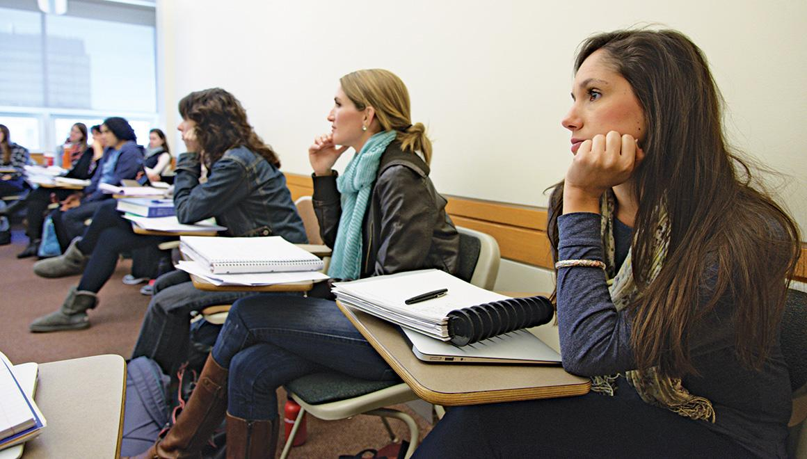 Students sitting in class