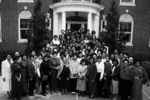 Attendees of the 1989 Black Alumnae/I Symposium in 1989
