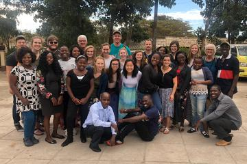 The entire team: 9 nursing students, 4 engineering students, 4 GAiN staff, and our Malawian Partners of Life Ministry Malawi!