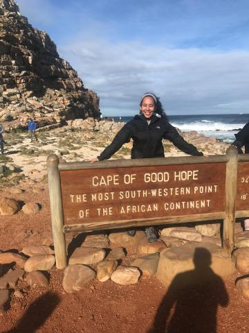 Sunnie Hodge at the Cape of Good Hope