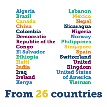 Members of the Class of 2024 come from 26 countries