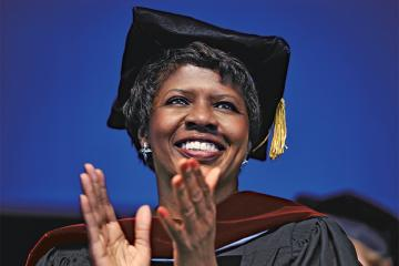 Gwen Ifill at Commencement ceremony