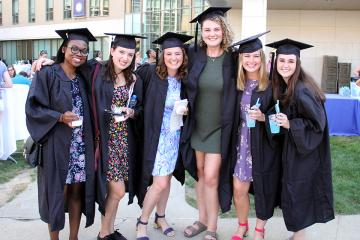 Seniors celebrating after the convocation ceremony.