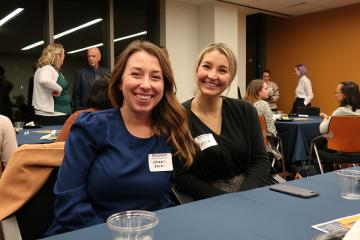 Kendall Bauer '16 and Becca Ruesch '17 at the event.