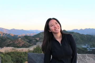 Sangha Kang-Le on the Great Wall of China