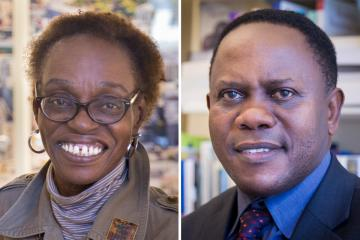 Headshots of Johnnie Hamilton Mason and Hugo Kamya