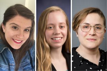 Headshots of Hannah Arnow, Melissa Jennison, and Kerri MacLaury