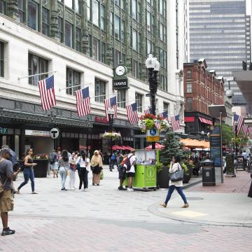 Shoppers in Downtown Crossing