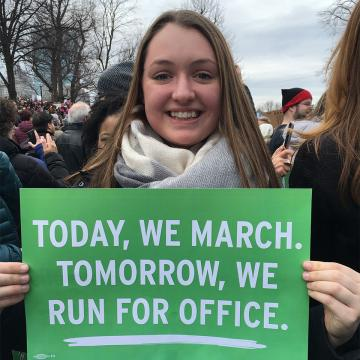 Molly McDonald at the Women's March