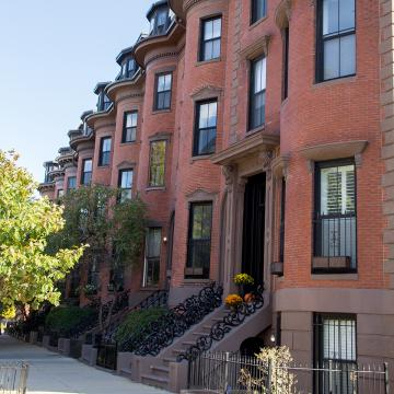 Brownstones in the South End of Boston