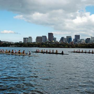 Simmons Crew Team on the Charles River