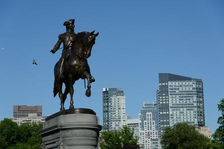 Paul Revere statue in the Boston Common
