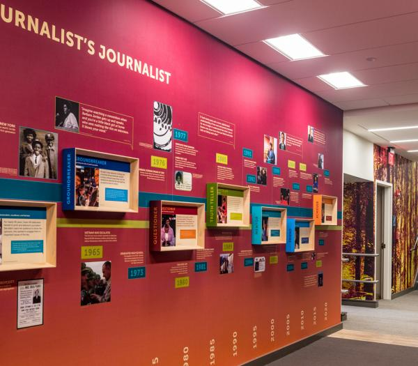 Hallway in The Gwen Ifill College of Media, Arts, and Humanities
