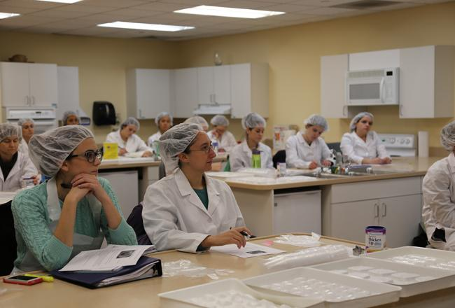 Students in a nutrition class