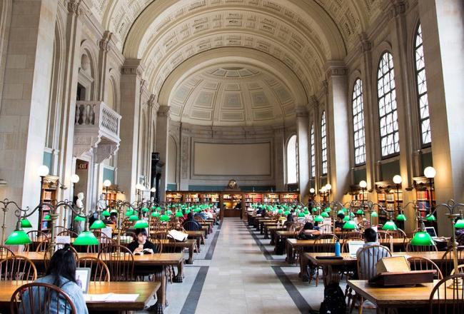 Inside the Boston Public Library