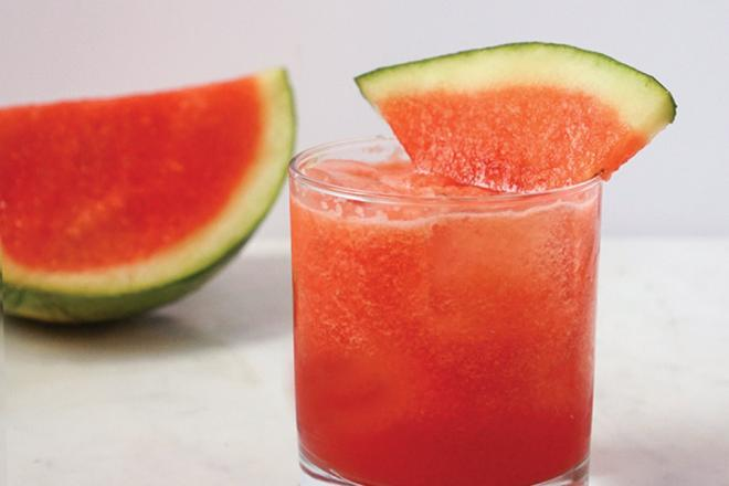 Watermelon Mock-a-rita from the recipe book Drinking for Two: Nutritious Mocktails for the Mom-to-Be