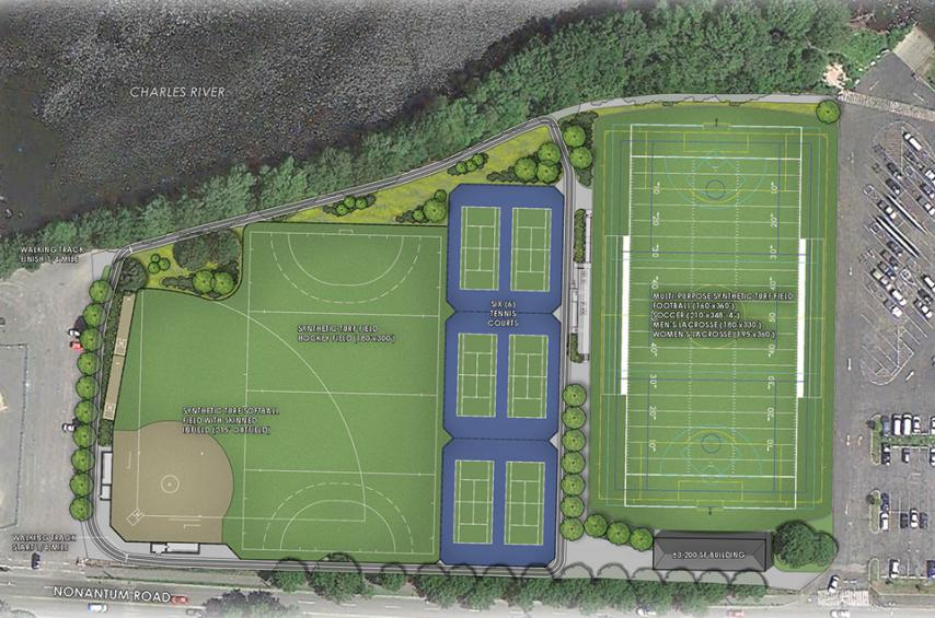 Overhead rendering of Daly Field improvements