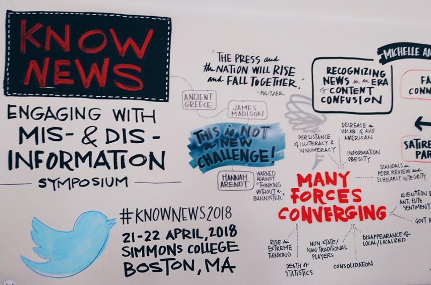 Misinformation Symposium wall mural