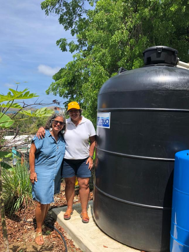 Dulce del Rio - Culebra Community Leader and Director of community Organization  Mujeres de Islas (PRxPR grantee) with Carmen Baez founder of PRxPR - May 2019