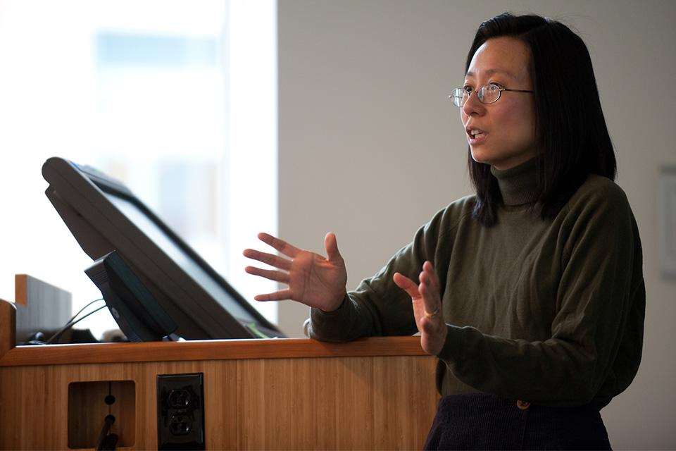 Teresa Fung giving a lecture