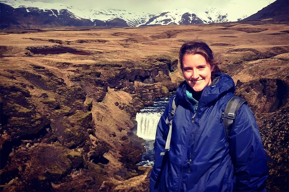 Alicia Healey while studying abroad in Iceland