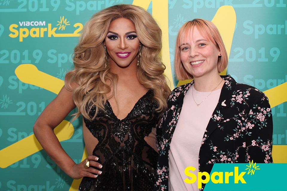 Amy Eicher with Shangela