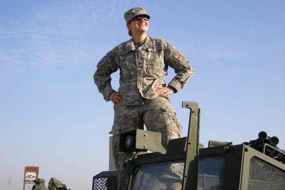 Kate Lucier in her U.S. Army uniform.