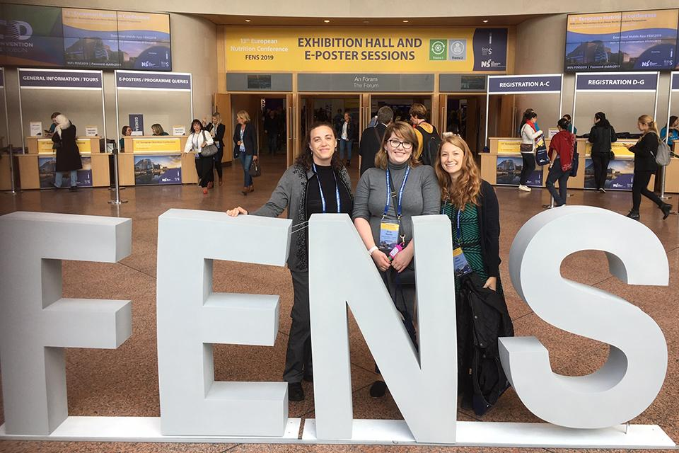 Dr. Lisa Brown, Emily Trussler and Julia Navon at the Federation of European Nutrition Societies (FENS) in Dublin Ireland.